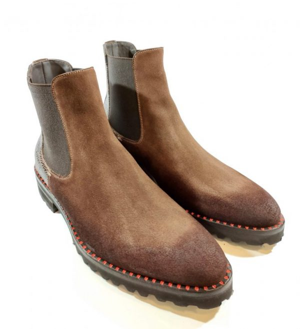0077 Ankle Boot Tobacco Brown Suede Leather