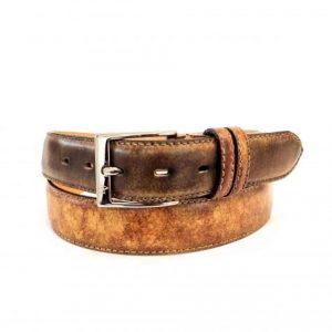 Cintura in Pelle Colore Caramello Made in Italy