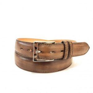 Cintura in Pelle Marrone Anticato