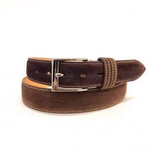 Cintura in Pelle Marrone Made in italy