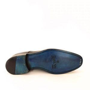 Universale Derby Shoes Ocean Blue Color Leather Sole